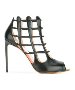 FRANCESCO RUSSO | Cell Bars Motif Sandals Leather/Bos