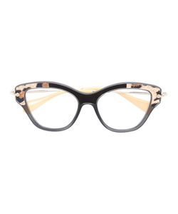 Miu Miu Eyewear | Cat Eye Glasses Acetate/Metal Other/Suede