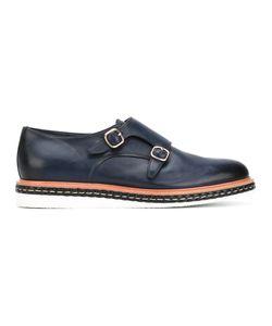 Santoni   Contrast Sole Monk Shoes