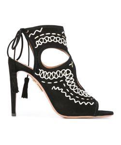 Aquazzura | Sexy Thing Folk Sandals 37 Calf Leather/Goat