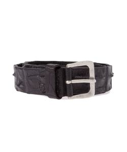 SCUNZANI IVO | Leather Belt From Featuring An Embossed Crocodile Effect And A Tone Buckle
