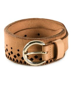 RODEBJER | Leather Rode B Perforated Belt From