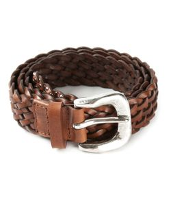 Claudio Orciani | Calf Leather Woven Belt From