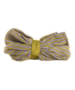 CA4LA | Multicoloured Cotton Bow Knitted Headband From
