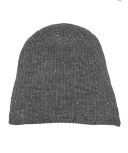 WARM-ME | Medium Cashmere Mercury Hat From Featuring A Ribbed Design And Swarovski Elements Embellishment Throughout