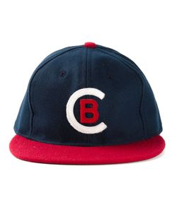 EBBETS FIELD FLANNELS | And Wool Cleveland Buckeyes 1946 Baseball Cap From Featuring A Contrast Panel On The Visor A Panel On The Undervisor And A And Felt Cb Lettering Can Be Seen On The Front Of The Cap
