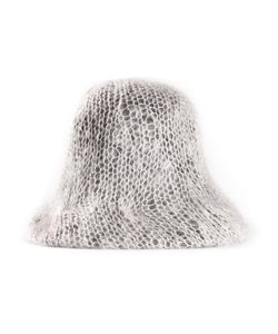 KONCEPTKRAMER | Wool Tumbled Bucket Hat From Featuring A Flexible Brim A Round Top And A Loose Knit Layer
