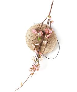 PIERS ATKINSON | Multicoloured Silk And Straw Cherry Blossom Pillbox Hat From