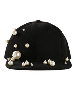PIERS ATKINSON | Pearl Embellished Cap From Featuring A Straight Peak