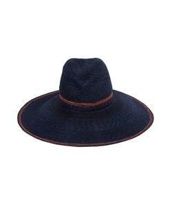 LOLA HATS | Navy And Straw Wide Brim Hat From