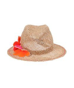 LOLA HATS | Raffia Flower Applique Hat From
