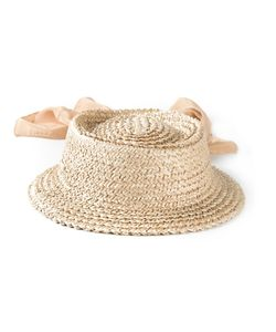 SUPER DUPER HATS | Nude Silk Monetina Hat From
