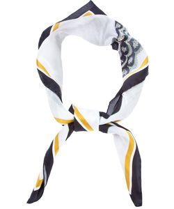 A'N'D | Multicoloured Large Silk Scarf From Featuring Hand Rolled Edges And A Digital Print Of Randomly Piled Clothes