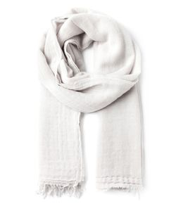 PRIVATE | Natural Cashmere Fringed Net Scarf From 0204