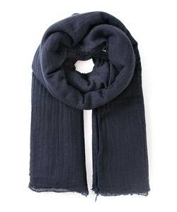 PRIVATE | Cashmere Large Frayed Edges Scarf From 0204