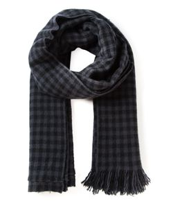 PRIVATE | Cashmere Gingham Scarf From 0204