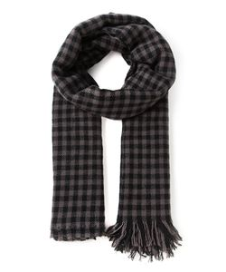 PRIVATE | And Cashmere Checked Fringed Scarf From 0204