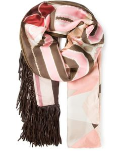 PIERRE-LOUIS MASCIA | And Silk-Cotton Blend Fringed Printed Scarf From