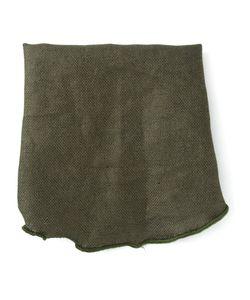 ALEXANDER OLCH | Dark Linen Round Handkerchief From