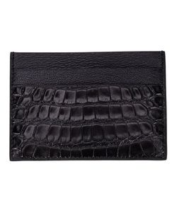 EXEMPLAIRE | Calf Leather And Alligator Leather Embossed Card Holder From Featuring Multiple Card Slots