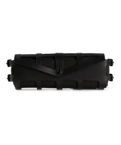 Fleet Ilya | Leather Harness Clutch From Featuring A Foldover Top With Snap Closure Side Buckle Fastenings A Detachable Pouch Pocket And A Cage Design