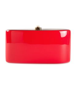 ROCIO | Acacia Wood And Suede Blend Candy Clutch Bag From