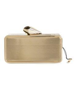 Kotur   -Tone Brass Box Clutch From
