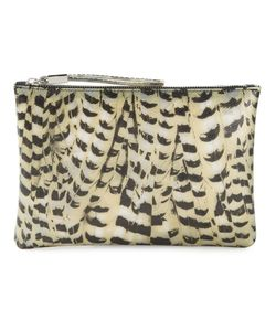 GUM | And Feather Print Clutch From
