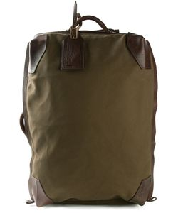 Jas-M.B. | Olive Cotton Antique Effect Trolley Case From Jas M