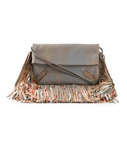 Barbara Bonner | Leather Rumba Fringed Crossbody Bag From