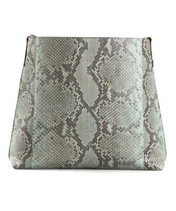 B MAY | Python Skin Open Top Satchel From