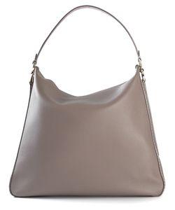 Bertoni | Taupe Leather Maddalena Shoulder Bag From 1949