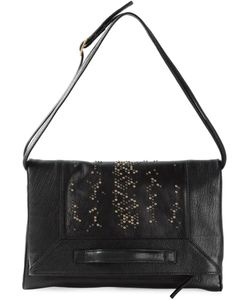 Badura | Leather Studded Shoulder Bag From