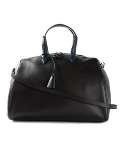 MYRIAM SCHAEFER | Navy And Leather Classic Tote From