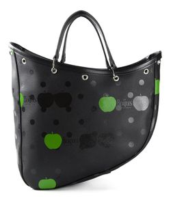 THE BEATLES X COMME DES GARCONS | Artificial Leather Apple And Dot Print Boat Tote From
