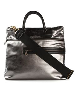 Jas-M.B. | Gunmetal Leather Move On Tote From Jas M