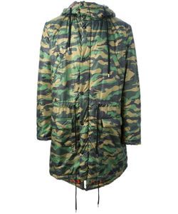 FIFTEEN AND HALF | Reversible Camouflage Print Parka From