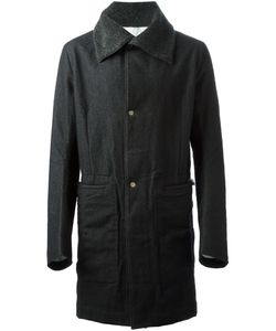 TAICHI MURAKAMI | Felted Cashmere Coat With Contrast Cashmere Fleece Collar