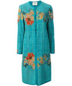 Etro | Пальто С Цветочной Вышивкой-Макраме