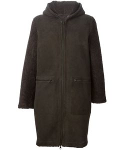 SPRUNG FRERES | Sheepskin Zipped Up Hooded Coat From