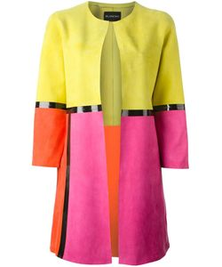 Blancha | Multicoloured Suede Colour Block Coat From