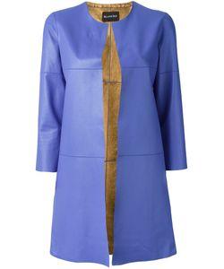 Blancha | Платье С Контрастными Лацканами Без Воротника