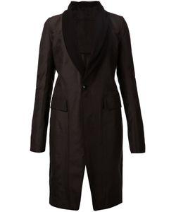 Rick Owens | Пальто С Лацканами Из Тюля