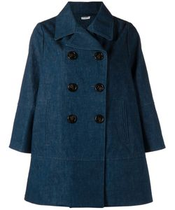 Charles Anastase | Cotton Double Breasted Denim Coat From Featuring Smiley Face Buttons