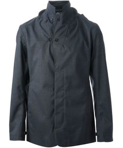 NORWEGIAN RAIN | Navy Cashmere Nutter Raincoat From