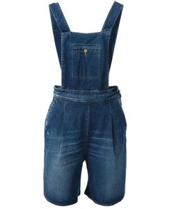 +people | Cotton Overalls From Featuring A Square Neck Adjustable Straps A Button Fastening Side Seam Pockets Rear Pockets And A Distressed Finish