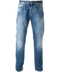 Michael Bastian | Cotton Five Pocket Jeans From Featuring A Waistband With Belt Loops A Button And Zip Fly And Whiskering At The Thigh