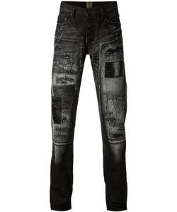 PRPS Goods & Co | Cotton Distressed Patchwork Jeans From Prps Goods And Co
