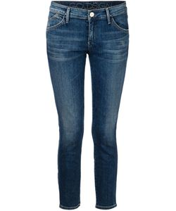 Goldsign | Cotton Blend Cropped Skinny Jeans From