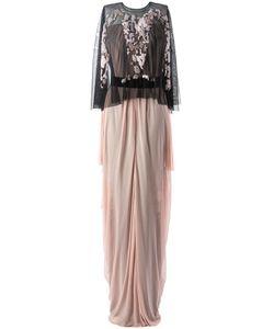 Marios Schwab | Платье С Чёрной Накидкой